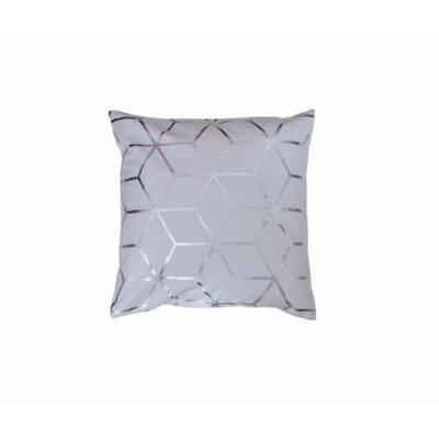 Svoboda Cotton Throw Pillow Pillow Cover Color: White/Silver