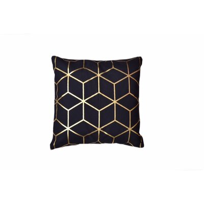 Svoboda Cotton Throw Pillow Pillow Cover Color: Black/Gold
