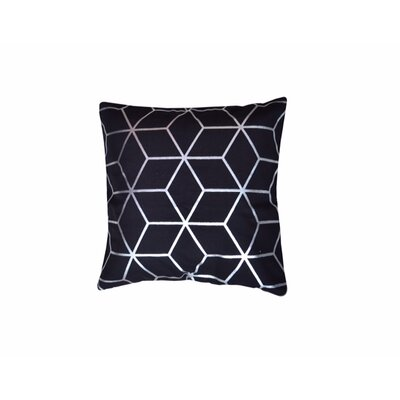 Svoboda Cotton Throw Pillow Pillow Cover Color: Black/Silver