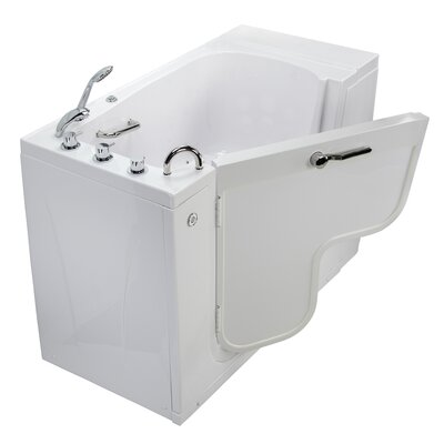 Transfer L Shape Wheelchair Accessible Microbubble 52 x 30 Walk-in Combination Bathtub Door Orientation: Left