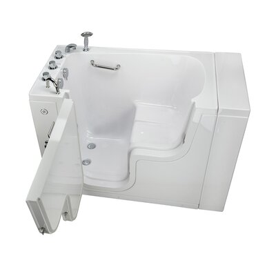 Transfer L Shape Wheelchair Accessible Soaking Heated Seat 52 x 30 Walk-in Combination Bathtub Door Orientation: Left