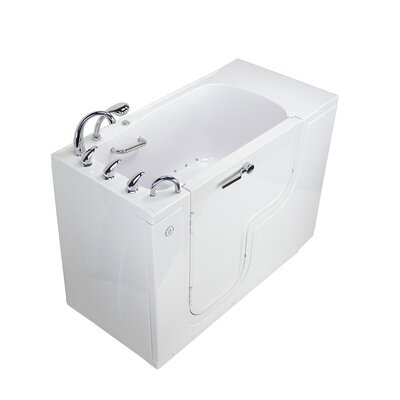 Transfer L Shape Wheelchair Accessible Air Massage 52 x 30 Walk-in Combination Bathtub Door Orientation: Left