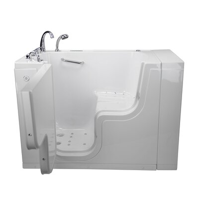 Transfer L Shape Wheelchair Accessible Dual Massage 52 x 30 Walk-in Combination Bathtub Door Orientation: Left