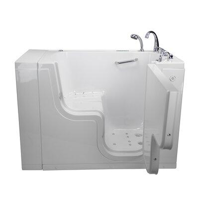 Transfer L Shape Wheelchair Accessible Dual Massage 52 x 30 Walk-in Combination Bathtub Door Orientation: Right