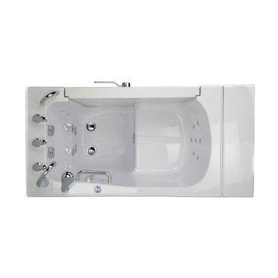 Transfer L Shape Wheelchair Accessible Hydro Massage Microbubble 52 x 30 Walk-in Combination Bathtub Door Orientation: Left