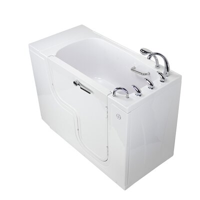 Transfer L Shape Wheelchair Accessible Soaking 52 x 30 Walk-in Combination Bathtub Door Orientation: Right