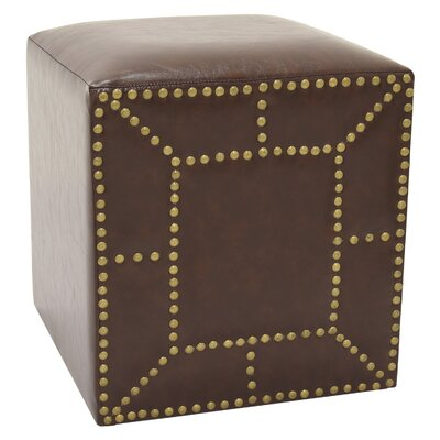 Jessee Cube Ottoman Color: Brown