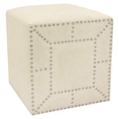 Jessee Cube Ottoman Color: White