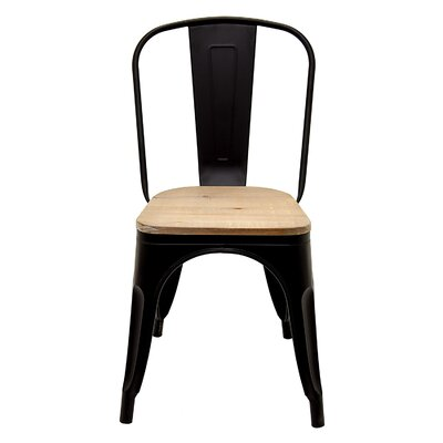 Macaluso Metal and Wood Side Chair