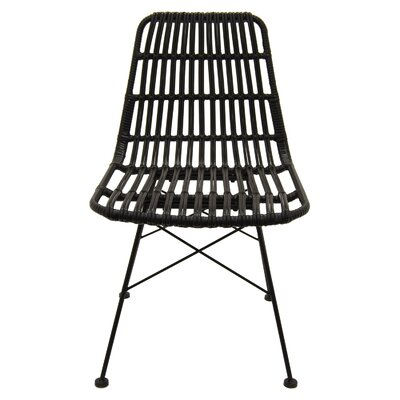 Trott Metal and Plastic Side Chair Color: Black
