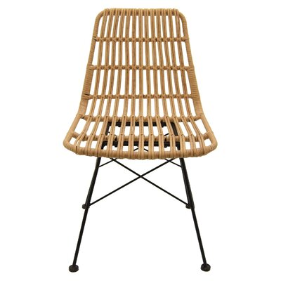 Trott Metal and Plastic Side Chair Color: Brown