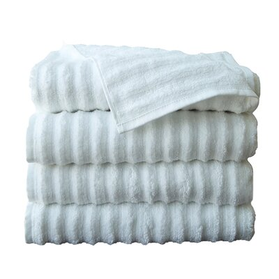 Fine Combed Zero-Twist Cotton Bath Towel Color: White