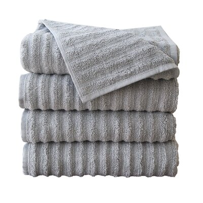 Fine Combed Zero-Twist Cotton Bath Towel Color: Silver