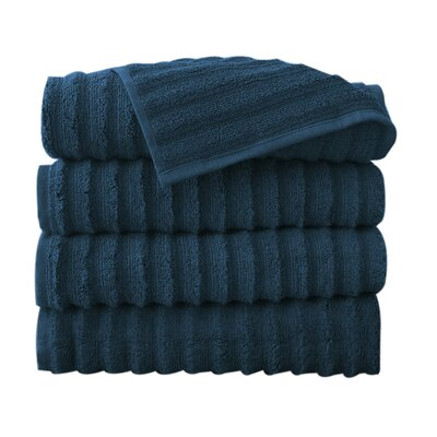 Fine Combed Zero-Twist Cotton Bath Towel Color: Denin
