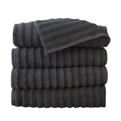 Fine Combed Zero-Twist Cotton Bath Towel Color: Gray