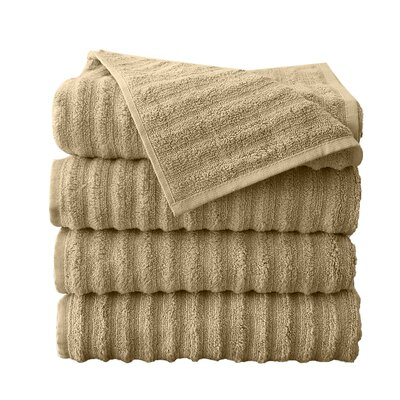 Fine Combed Zero-Twist Cotton Bath Towel Color: Beige