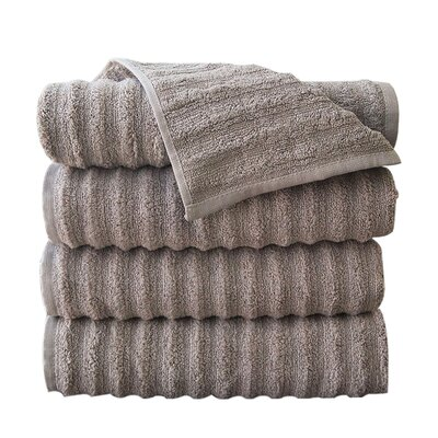 Fine Combed Zero-Twist Cotton Bath Towel Color: Taupe