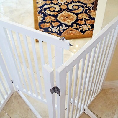 Pet Gate with Small Door Finish: White