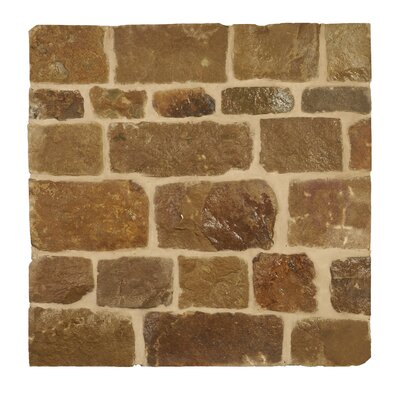 London Loose Veneer Natural Stone Splitface Tile in Brown
