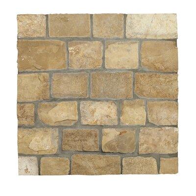 Newport Loose Veneer Random Sized Limestone Splitface Tile in Beige