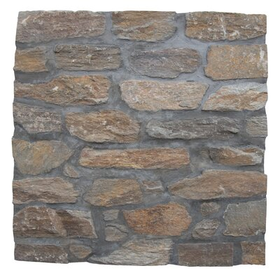 Canyon Creek Veneer Random Sized Natural Stone Splitface Tile in Gray