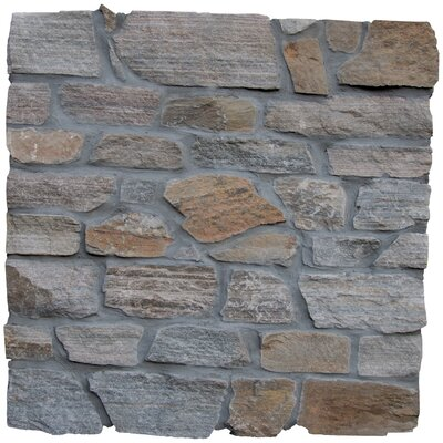 Safari Loose Veneer Random Sized Natural Stone Splitface Tile in Gray
