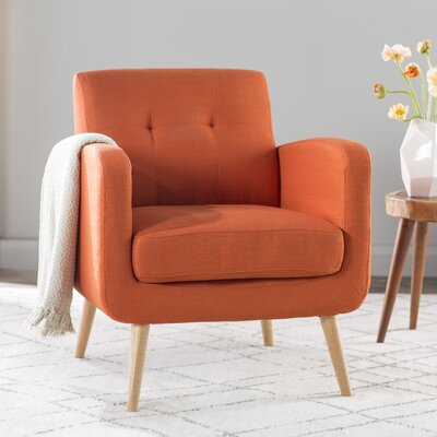 Valmy Armchair Upholstery: Orange