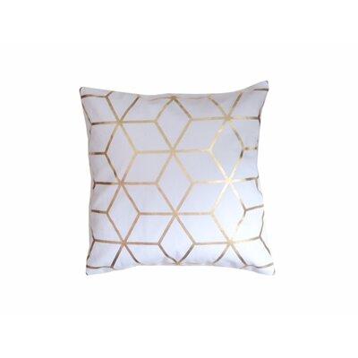 Svoboda Cotton Throw Pillow Pillow Cover Color: White/Gold