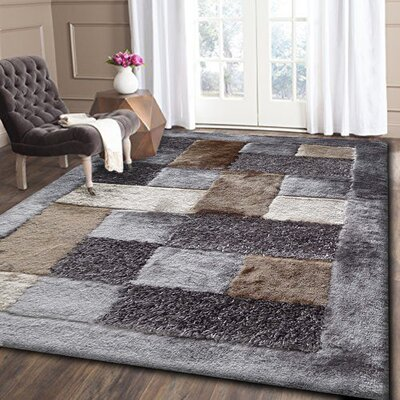 Yarbrough Hand-Tufted Beige/Gray Area Rug Rug Size: Rectangle 5' x 7'