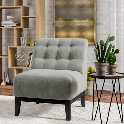 Tucker Slipper Chair Upholstery: Gray