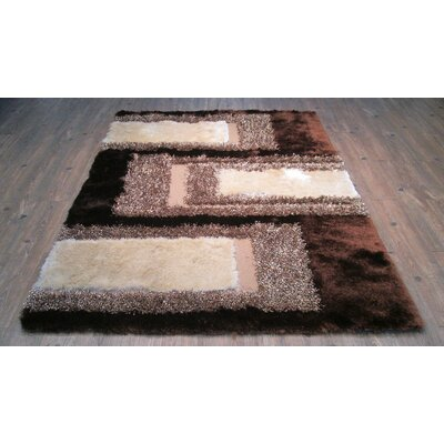 Yarbrough Hand-Tufted Brown/Beige Area Rug Rug Size: Rectangle 76 x 103