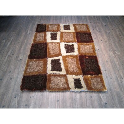Yarbrough Hand-Tufted Brown Area Rug Rug Size: Rectangle 5 x 7