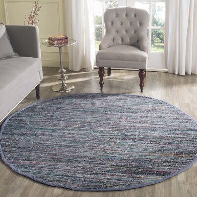 Eastport Rag Hand-Woven Contemporary Area Rug Rug Size: Round 4