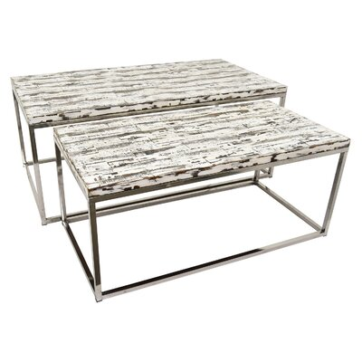 Paladino Wood and Metal Nesting Tables