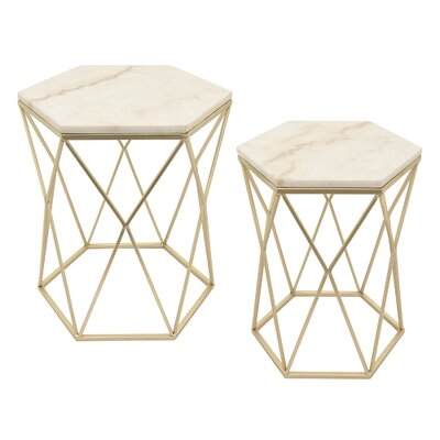 Cristal 2 Piece Nesting Tables