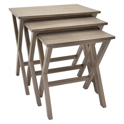 Mabery 3 Piece Nesting Tables Color: Gray