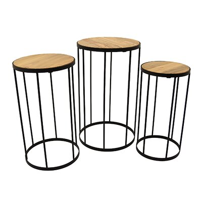 Palmateer 3 Piece Nesting Tables