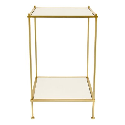 Gisselle Decorative Mirror End Table
