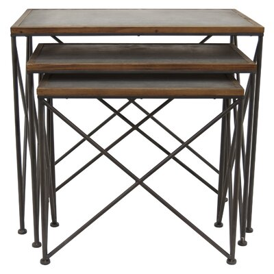 Mabe Metal 3 Piece Nesting Tables