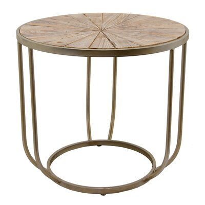 Lemen Metal and Wood End Table Size: 18 H x 20 W x 20 D