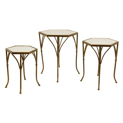 Trevor 3 Piece Nesting Tables Color: Gold