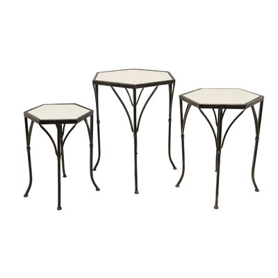 Trevor 3 Piece Nesting Tables Color: Black
