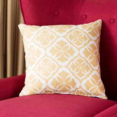 Murdock Geometric Print Throw Pillow Size: 18 H x 18 W x 3 D, Color: Gold