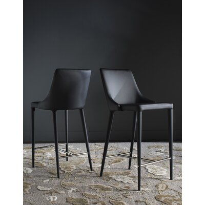 Sherwood 26 Bar Stool Upholstery: Black