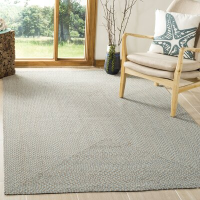 Lissie Hand-Woven Cotton Blue Area Rug Rug Size: Rectangle 5 x 8