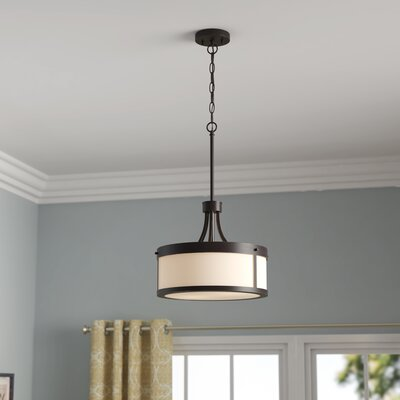 Sanderson 2-Light Drum Pendant Finish: Mahogany Bronze