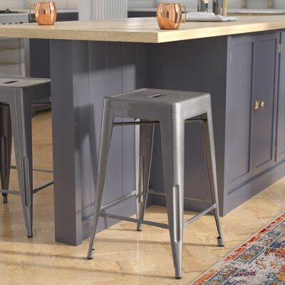 Jerome Backless Metal 24.25 Bar Stool