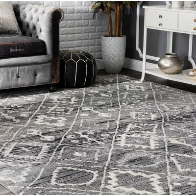 Cauley Dark Gray Area Rug Rug Size: Runner 28 x 8
