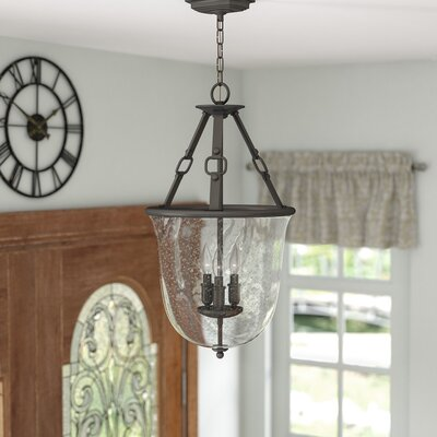 Brockington 3-Light Foyer Pendant Finish: Polished Antique Nickel