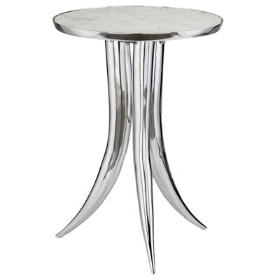 Hargraves End Table Color: White